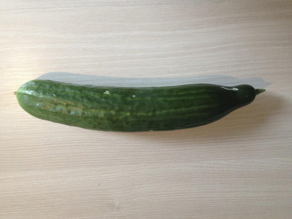 Zwei Sorten der Salatgurke